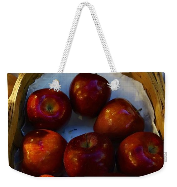 Basket Of Red Apples Weekender Tote Bag