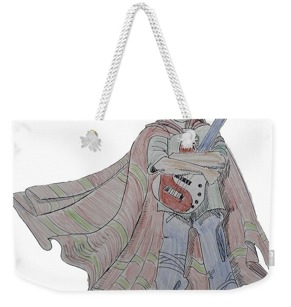 Bass Guitarist Cartoon Weekender Tote Bag