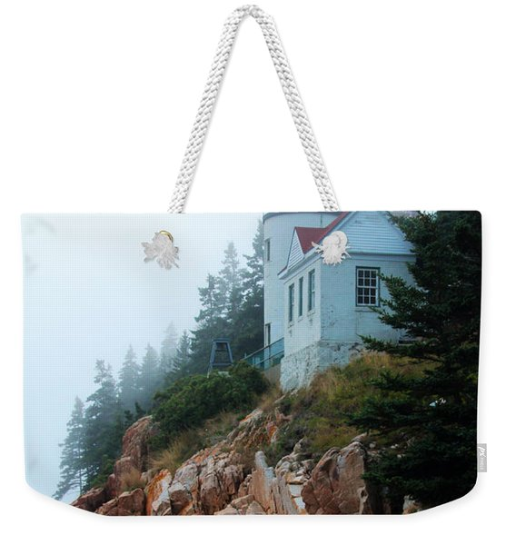 Weekender Tote Bag featuring the photograph Bass Harbor Head Lighthouse by Jemmy Archer