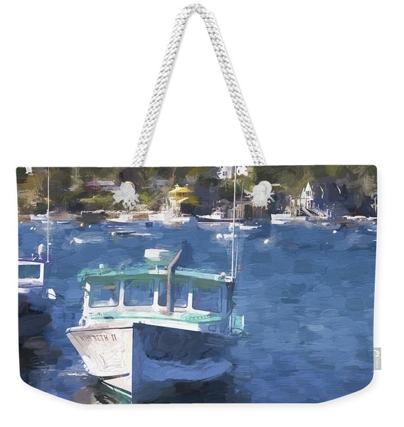 Bass Harbor Maine Painterly Effect Weekender Tote Bag