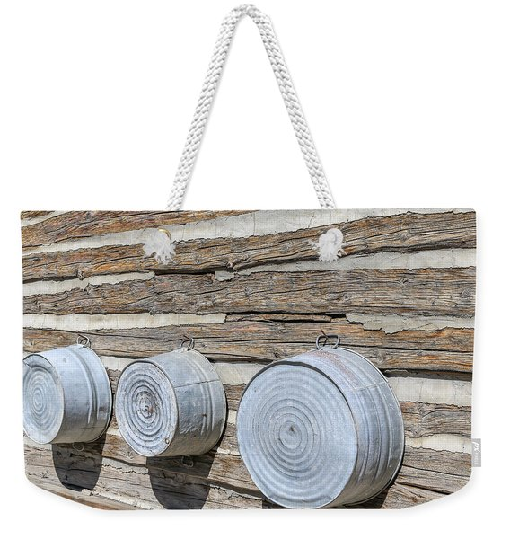 Weekender Tote Bag featuring the photograph Bath Time by Susan Leonard