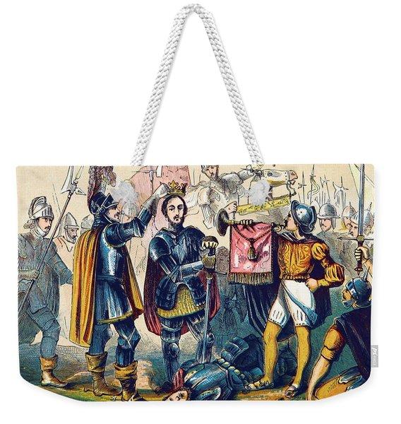 Battle Of Bosworth, Henry Vii Crowning Weekender Tote Bag