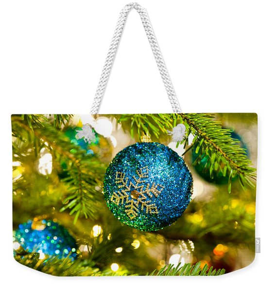 Bauble In A Christmas Tree  Weekender Tote Bag