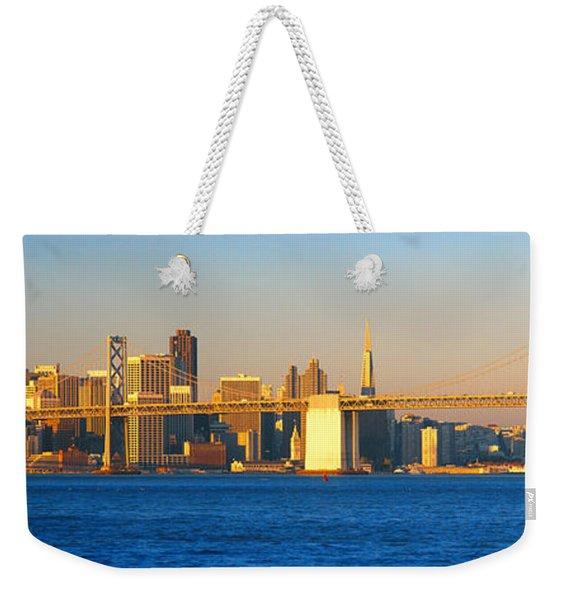 Bay Bridge & San Francisco From Port Weekender Tote Bag