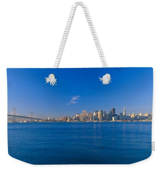 Bay Bridge & San Francisco Weekender Tote Bag