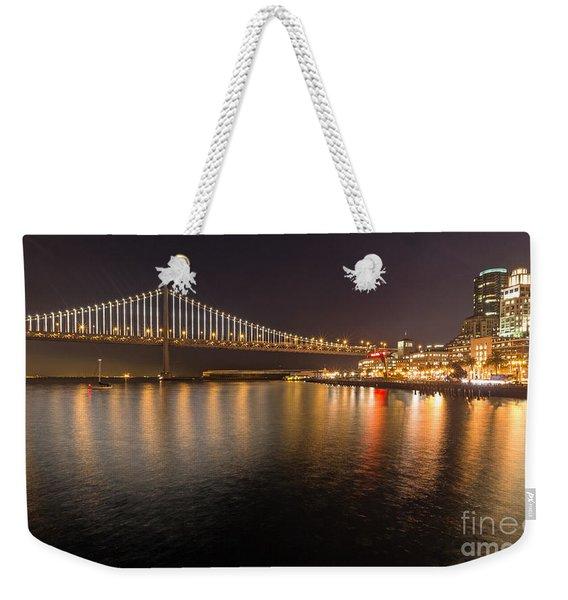 Bay Bridge Lights And City Weekender Tote Bag