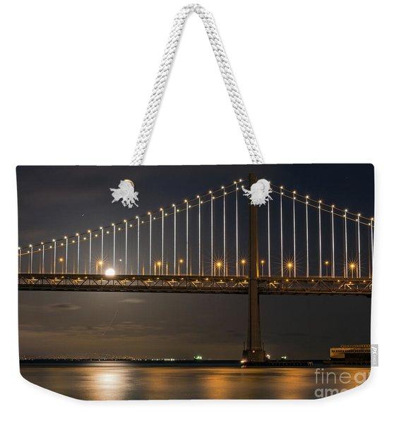 Bay Bridge Moon Rising Weekender Tote Bag