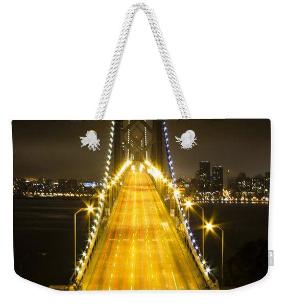 Bay Bridge Traffic Weekender Tote Bag