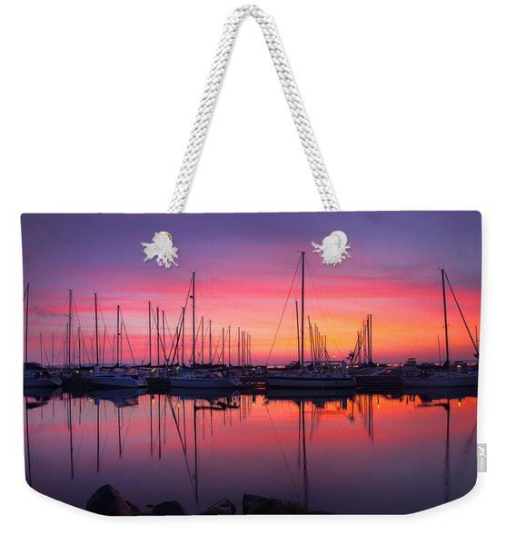 Bayfield Wisconsin Magical Morning Sunrise Weekender Tote Bag