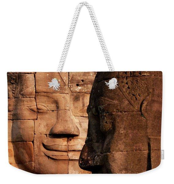 Bayon Faces 02 Weekender Tote Bag