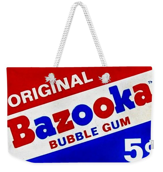Bazooka Bubble Gum  Weekender Tote Bag
