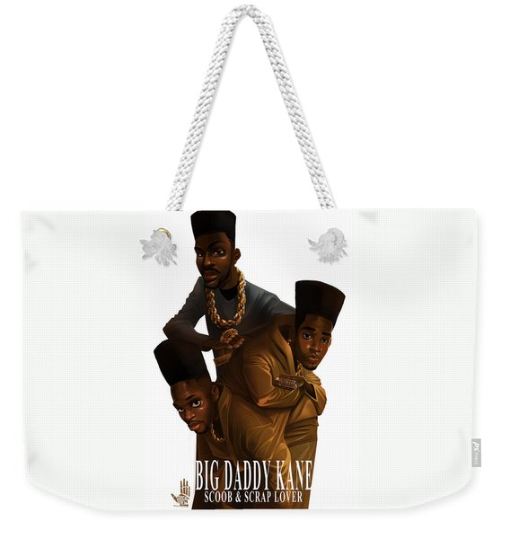 Weekender Tote Bag featuring the drawing Bdk White Bg by Nelson Dedos Garcia