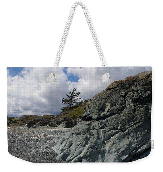 Beach At Fort Rodd Hill Weekender Tote Bag