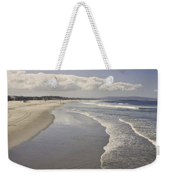 Beach At Santa Monica Weekender Tote Bag