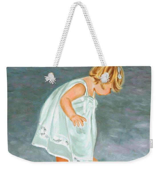 Beach Baby In White Weekender Tote Bag
