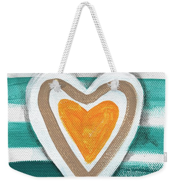 Beach Glass Hearts Weekender Tote Bag
