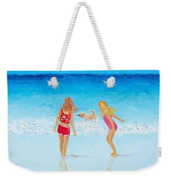 Beach Painting Beach Play Weekender Tote Bag