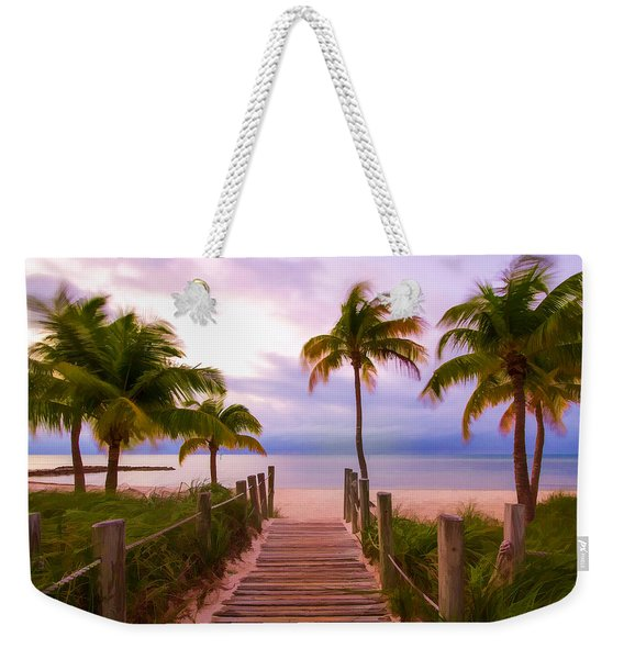 Beach Path Weekender Tote Bag