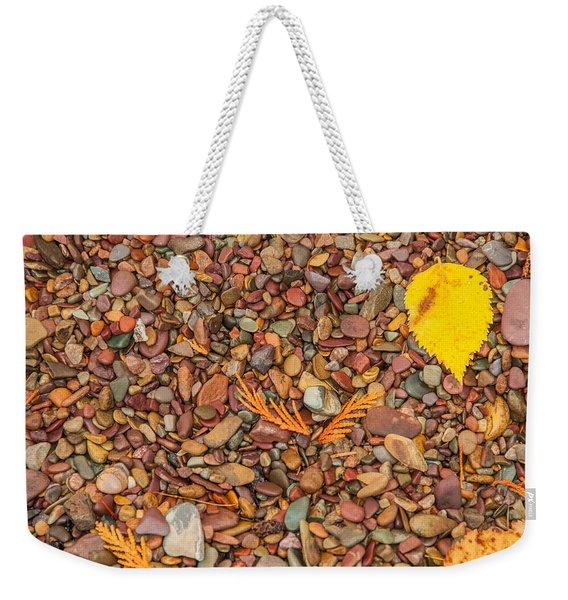 Beach Pebbles Of Montana Weekender Tote Bag
