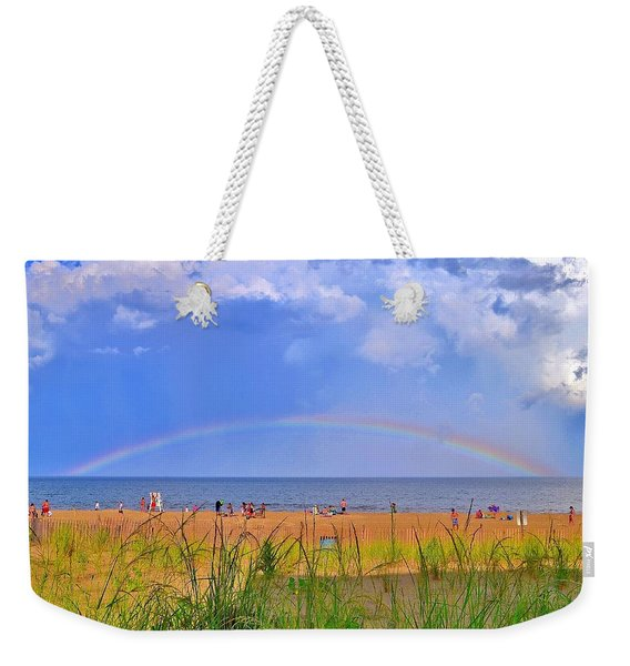 Beach Rainbow - Rehoboth Beach Delaware Weekender Tote Bag