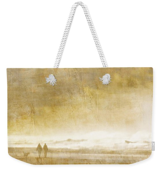 Beach Walk Square Weekender Tote Bag