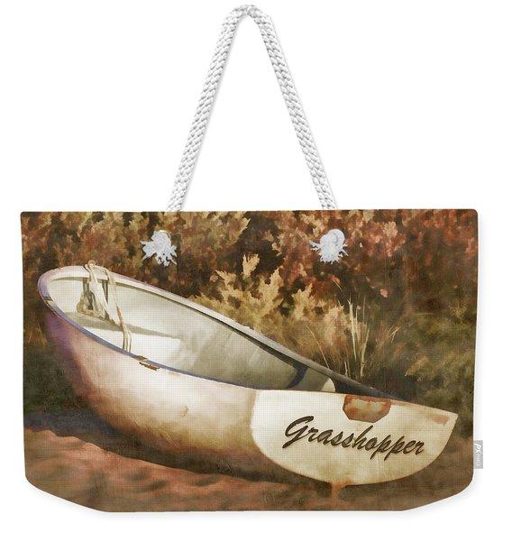 Beached Rowboat Weekender Tote Bag