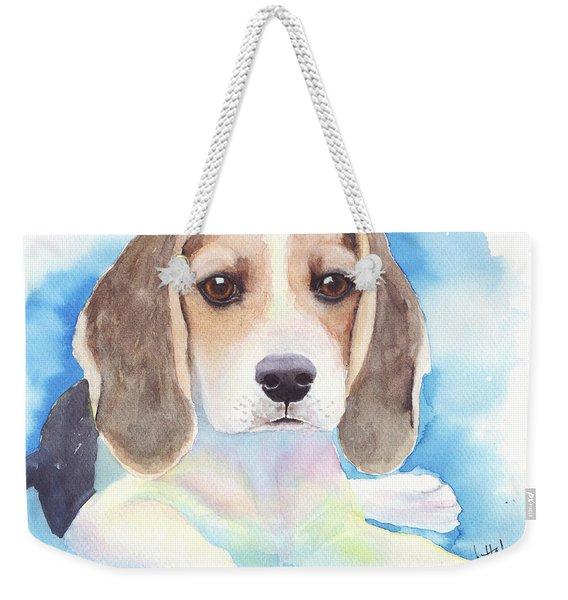 Beagle Baby Weekender Tote Bag