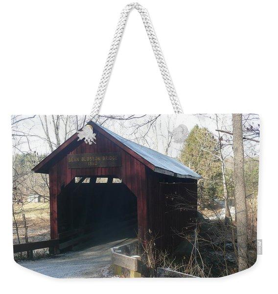 Bean Blossom Bridge Weekender Tote Bag
