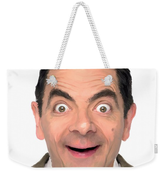 Bean - Digital Portrait Weekender Tote Bag