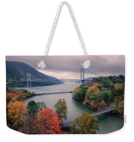 Bear Mountain Bridge Weekender Tote Bag