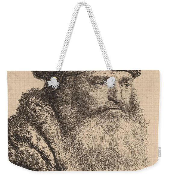 Bearded Man In A Velvet Cap With A Jewel Clasp Weekender Tote Bag