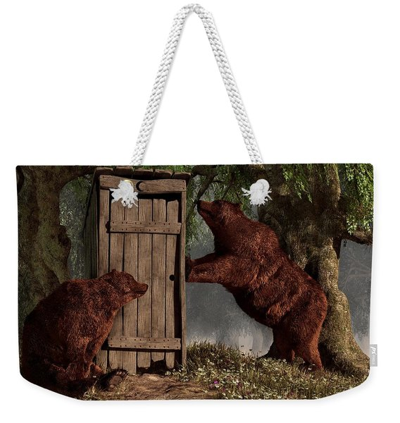 Bears Around The Outhouse Weekender Tote Bag