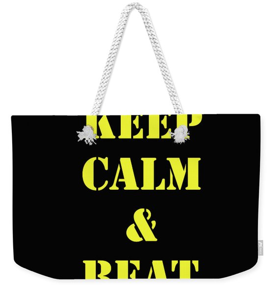 Beat Navy Weekender Tote Bag
