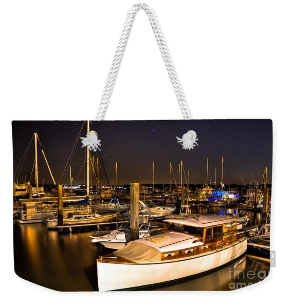 Beaufort Sc Night Harbor Weekender Tote Bag