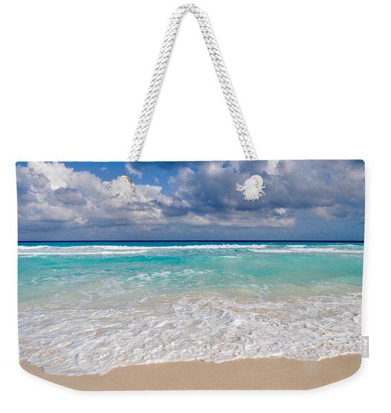 Beautiful Beach Ocean In Cancun Mexico Weekender Tote Bag