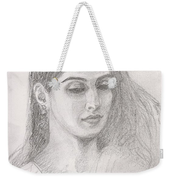 Beautiful Indian Woman Weekender Tote Bag