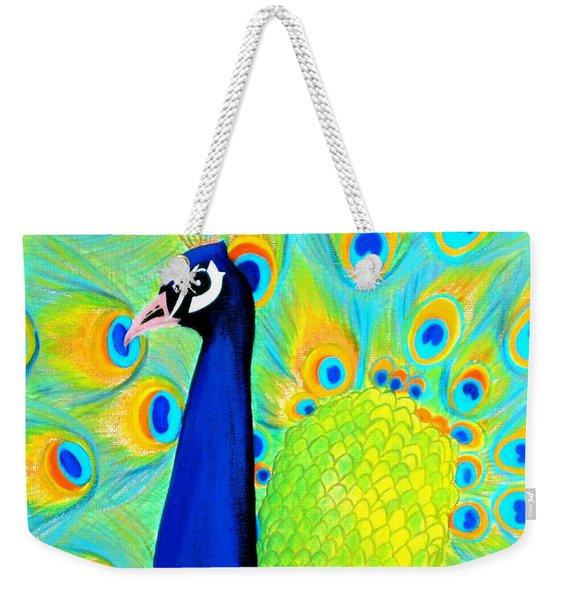 Beautiful Peacock Card Weekender Tote Bag