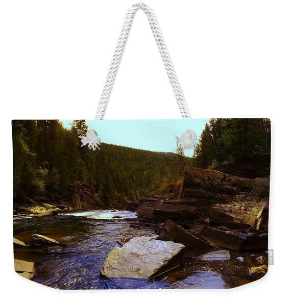 Beautiful Yak River Montana Weekender Tote Bag