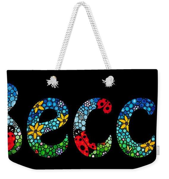 Becca - Customized Name Art Weekender Tote Bag