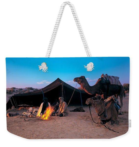 Bedouin Camp, Tunisia, Africa Weekender Tote Bag
