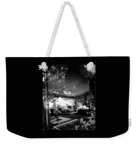 Bedroom Seen Through Glass From The Outside Weekender Tote Bag