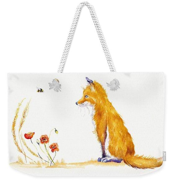 Bee A Summer Fox Weekender Tote Bag