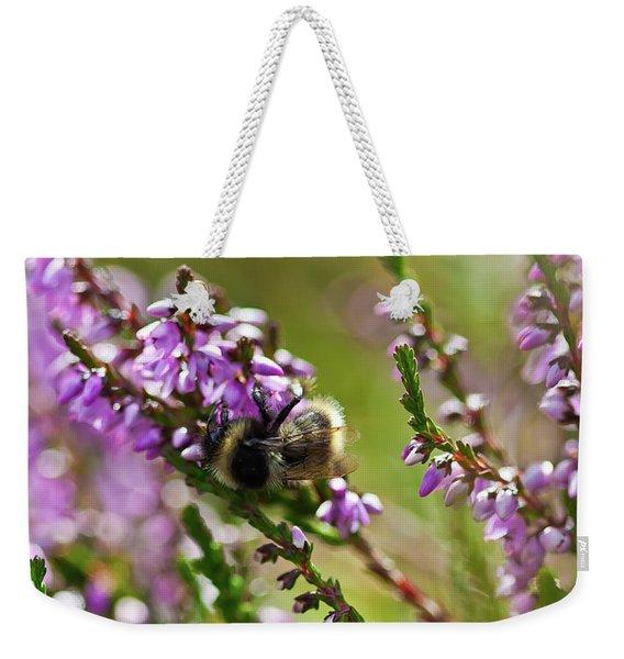 Bee On Heather Weekender Tote Bag