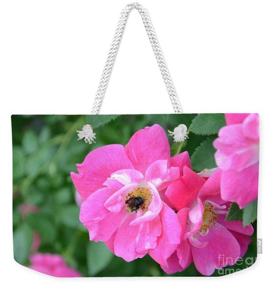 Bee Rosy Weekender Tote Bag
