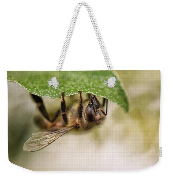 Beeing Upside Down Weekender Tote Bag