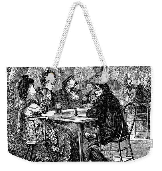 Beer Garden Weekender Tote Bag