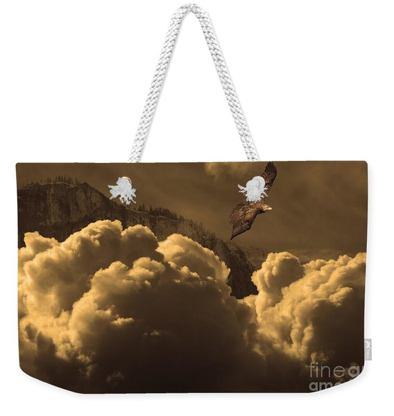 Before Memory . I Have Soared With The Hawk Weekender Tote Bag