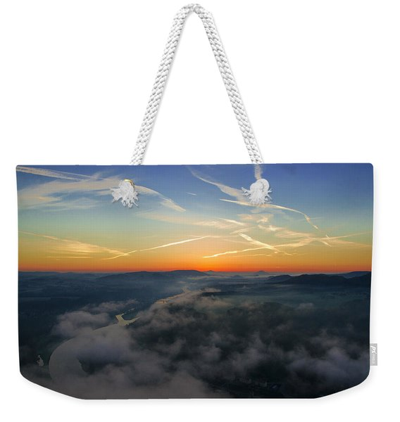 Before Sunrise On The Lilienstein Weekender Tote Bag