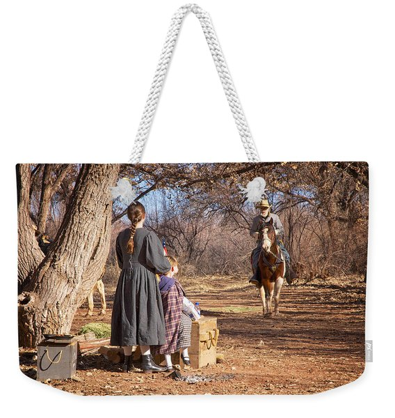Weekender Tote Bag featuring the photograph Before The Battle For Socorro by Mary Lee Dereske