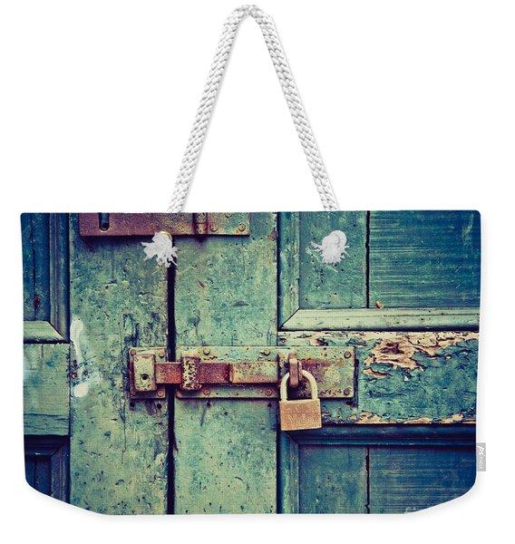 Behind The Blue Door Weekender Tote Bag